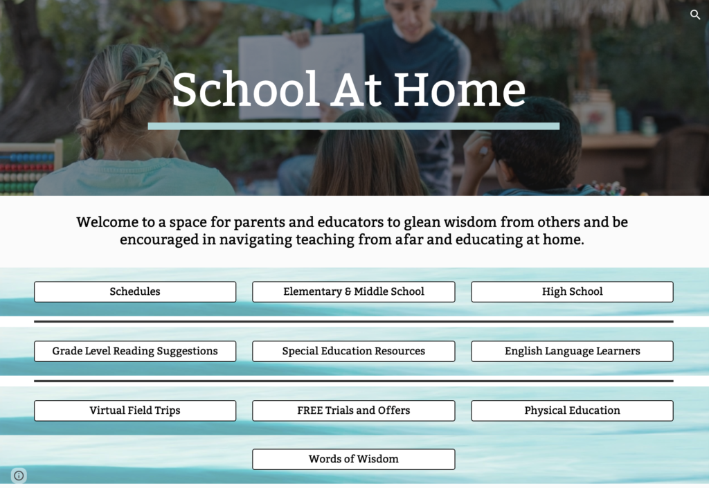 School at Home Resource