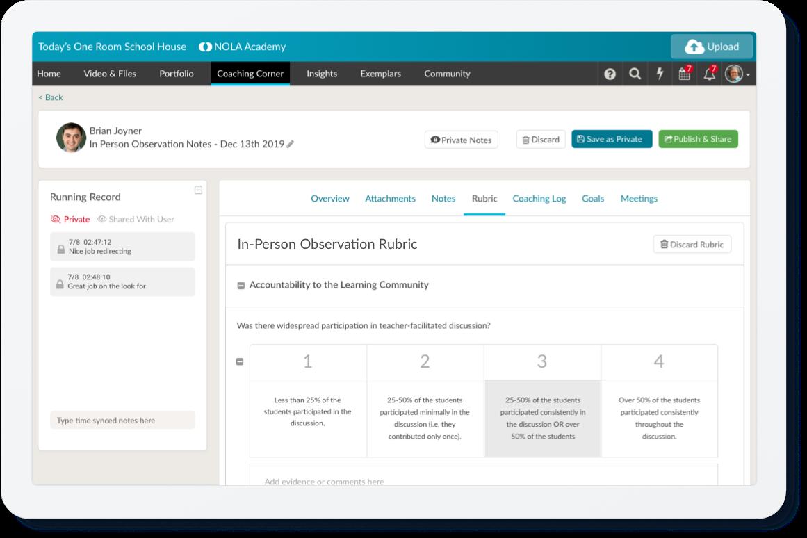 In-Person Observation Platform